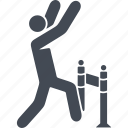 career ladder, human, overcoming obstacles, the goal icon
