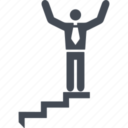 career ladder, human, stairs, the goal icon