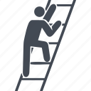 career, career ladder, human, person, stairs icon