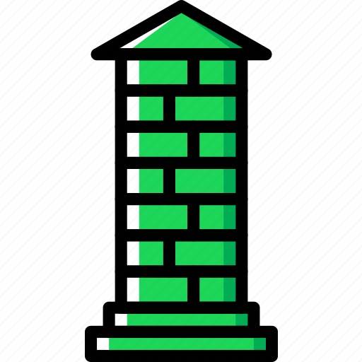 architecture, building, estate, pillar icon