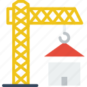 architecture, building, crane, estate icon