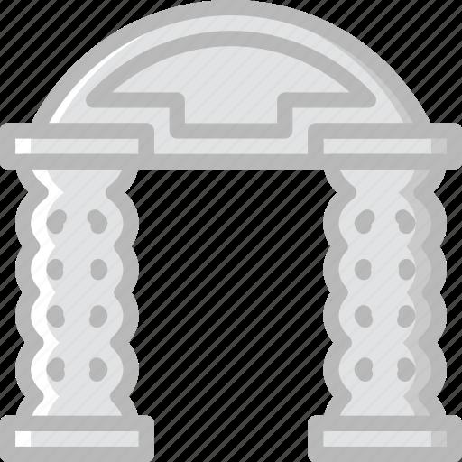 arch, architecture, building, estate icon