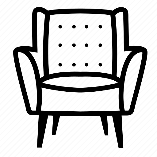 armchair, comfort, furniture, livingroom, lounge, recliner, relax icon