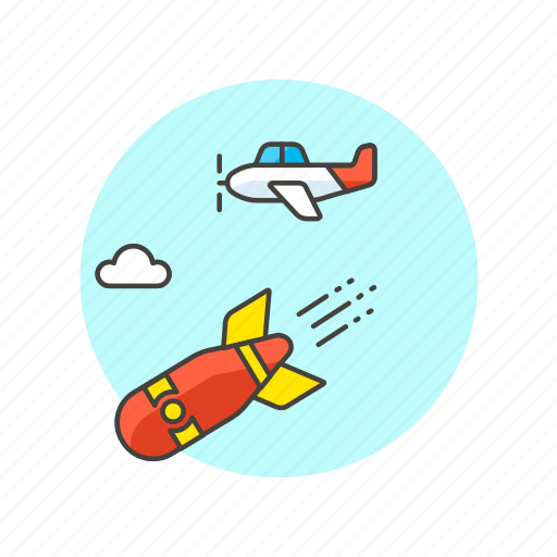 air, aircraft, army, bomb, fight, military, transport, war icon