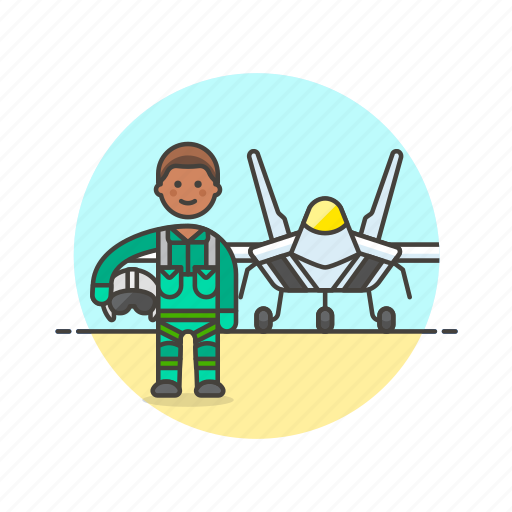 air, aircraft, army, man, military, pilot, soldier icon