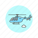 aircraft, army, helicopter icon