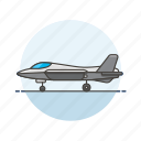 aircraft, army, fighter, jet icon