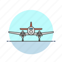 aircraft, airplane, army, flight, military, plane, transport icon