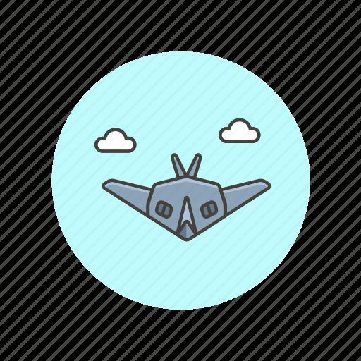 air, aircraft, army, military, plane, radar, stealth, transport icon
