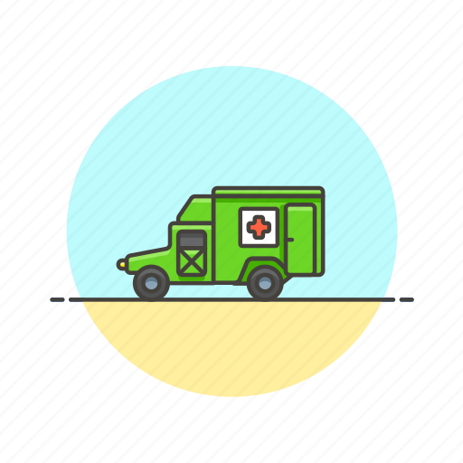 ambulance, army, help, military, transport, truck, vehicle icon