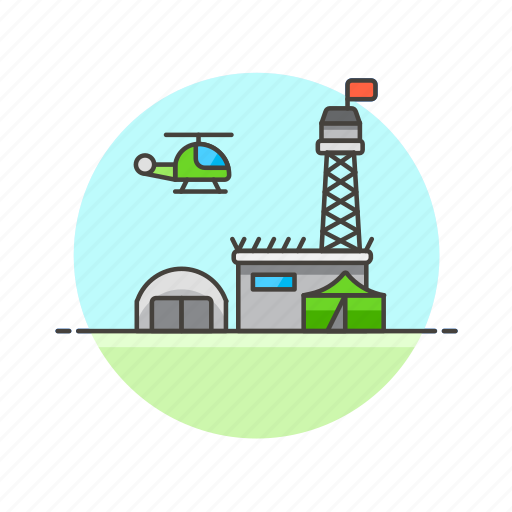 army, base, camp, chopper, helicopter, military, tent, transport icon