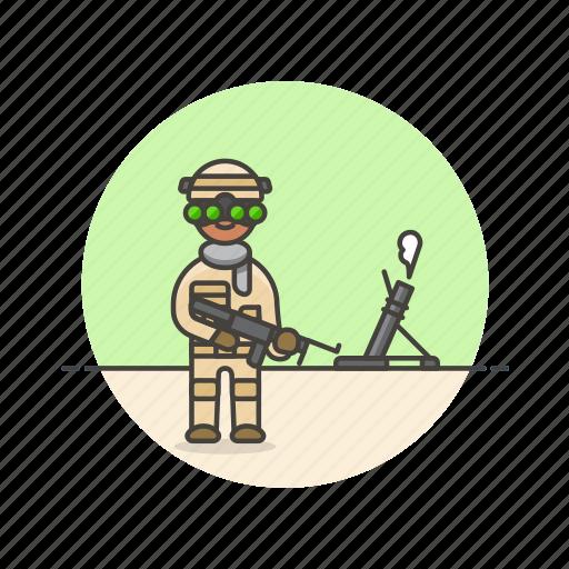 army, field, gun, military, rifle, soldier, uniform, war icon