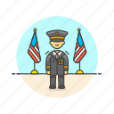 army, general, man, military, officer, soldier, uniform icon
