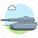 fire, military, turret, combat, tank, armoured, vehicle, war, battlefield, army, power icon