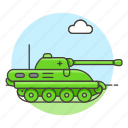 2, fire, military, turret, combat, tank, armoured, vehicle, war, battlefield, army, power icon