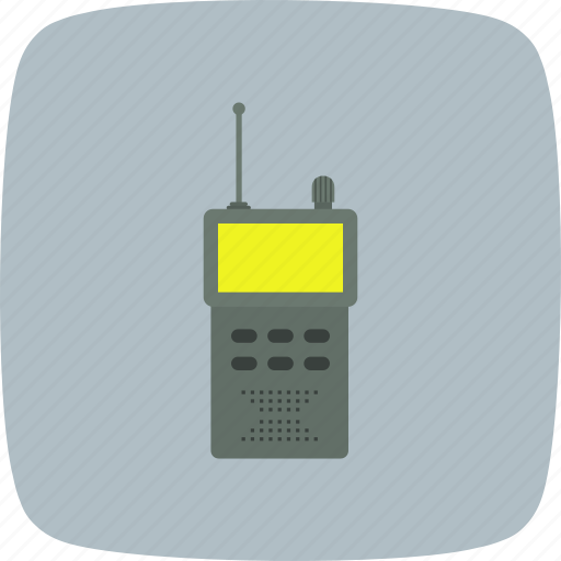 communication, mobile, phone, transceiver, walkie talkie icon
