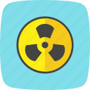 danger, nuclear, radiation icon