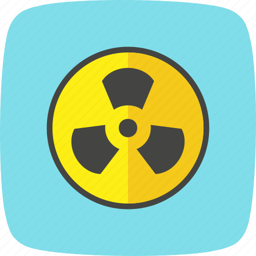 alert, attention, danger, nuclear, radiation, radioactive, warning icon