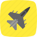 aeroplane, aircraft, airplane, fighter jet, jet icon