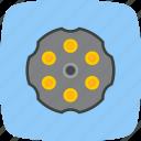 ammunition, bullet, chamber, revolver icon