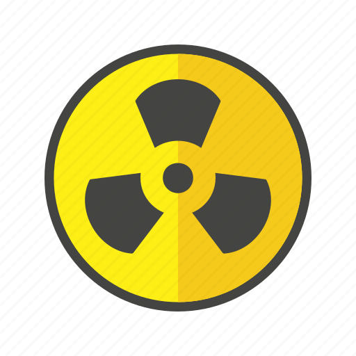danger, radiation, warning icon