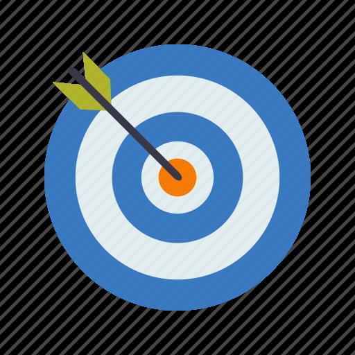 aim, bullseye, goal, target icon