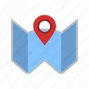direction, location, map, plan icon