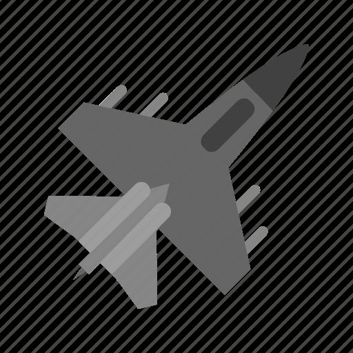 aeroplane, aircraft, airplane, fighter jet icon