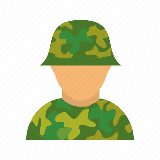 army, camouflage, military, personnel, soldier icon
