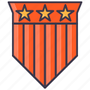 badge, champion, medal, soldier, veteran, winner icon
