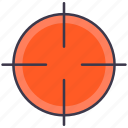 aim, goal, shooting, sniper, target icon