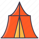camp, cover, holiday, shelter, tent, travel icon