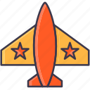 airforce, airplane, army, fighter, jet, military, plan icon