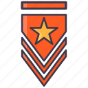 army, badge, emblem, rank, veteran, winner icon