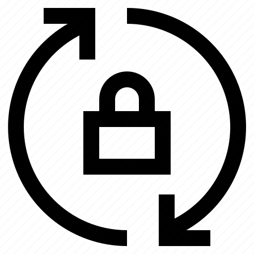 Arrow, arrows, direction, lock, refresh, reload, sync icon - Download on Iconfinder
