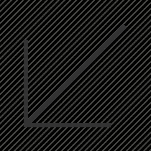 arrow, direction, down, left, navigation icon
