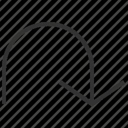 arrow, direction, down, location, navigation icon