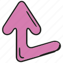 arrow, cartoon arrow, cursor, direction, doodle arrow, pointer icon