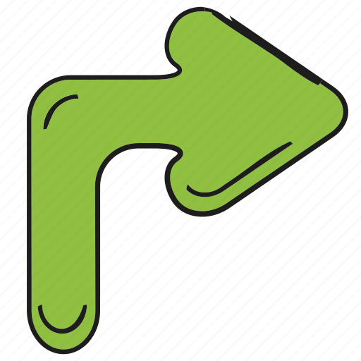 arrow, cartoon arrow, cursor, direction, doodle arrow, pointer, right icon