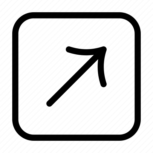 arrow, arrow sign, arrows, diagonal, direction, indicator, upper right icon