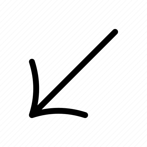 arrow, arrow sign, arrows, diagonal, direction, indicator, lower left icon