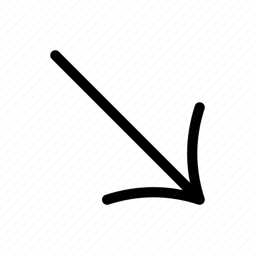 arrow, arrow sign, arrows, diagonal, direction, indicator, lower right icon