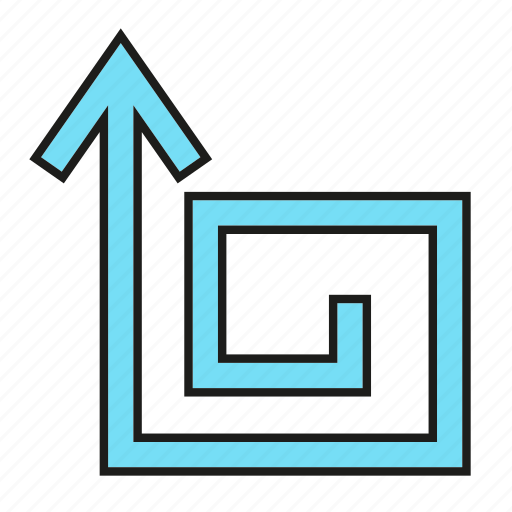 arrow, cursor, direction, sign, swirl icon