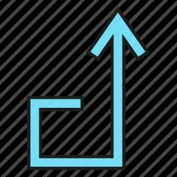 arrow, cursor, direction, sign, up icon