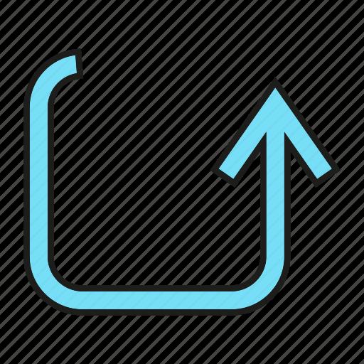 arrow, cursor, direction, sign icon