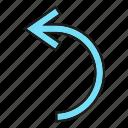 arrow, cursor, curve, direction, sign