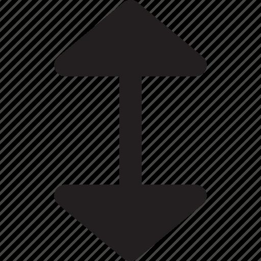 arrow, direction, interface, orientation, ui, vertical icon
