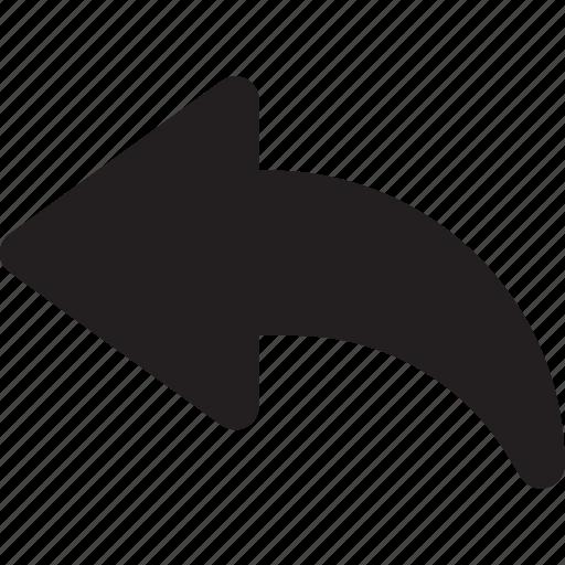 arrow, direction, interface, orientation, reply, ui icon