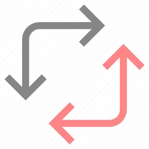 arrow, change, direction, move, navigation, pointer icon