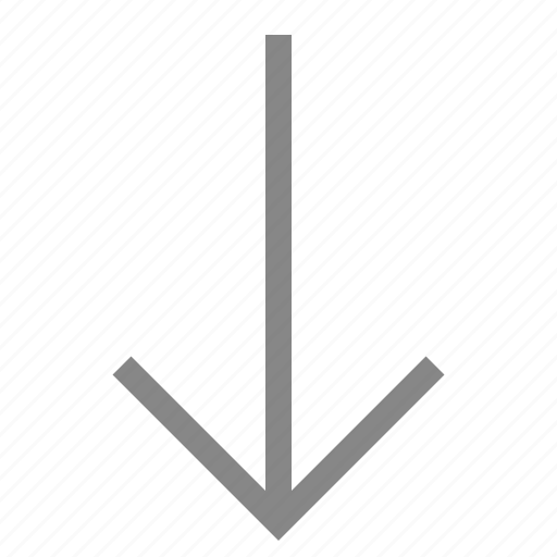 arrow, direction, down, move, navigation, pointer icon